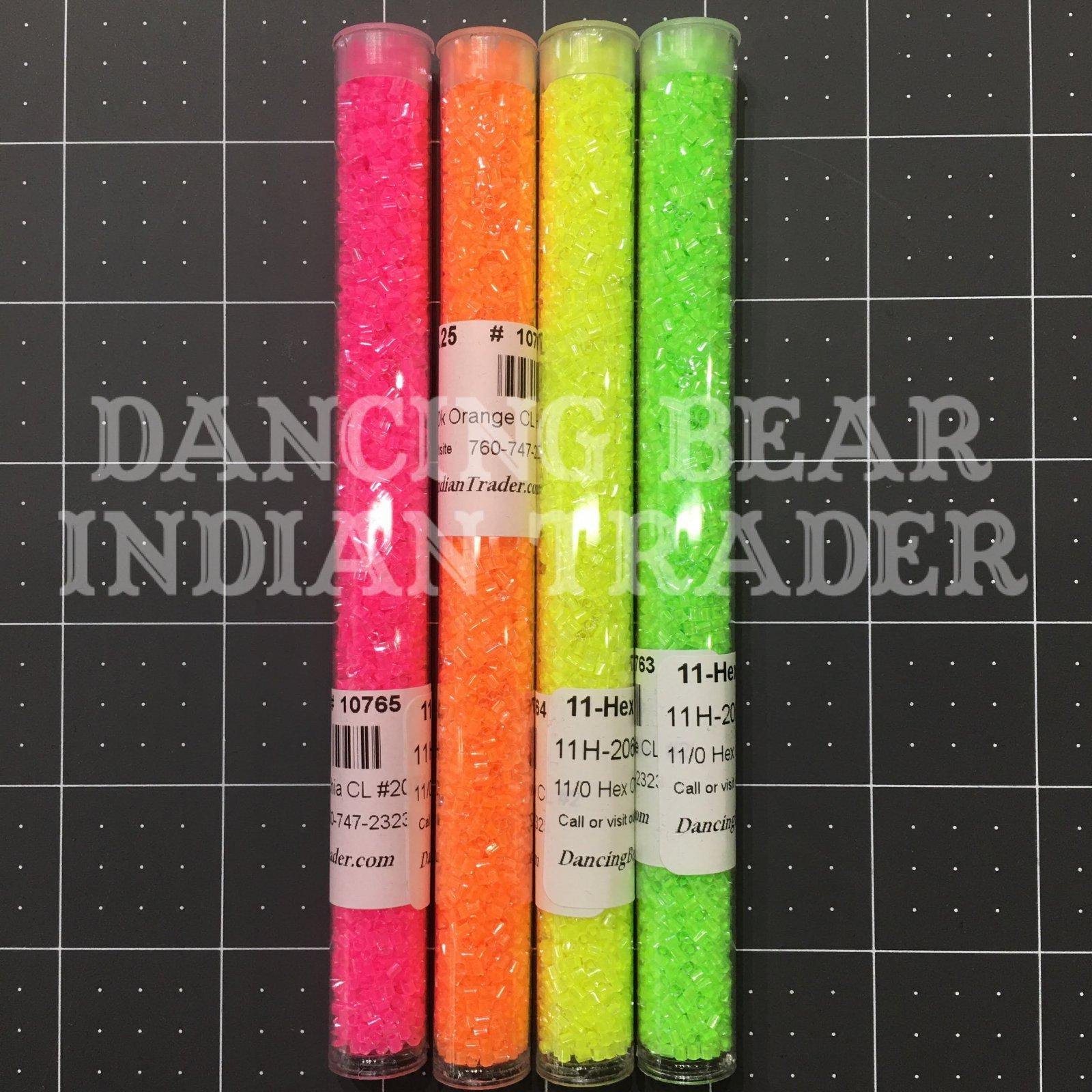 11/0 Hex Neon Bead Set 4 Colors Japanese
