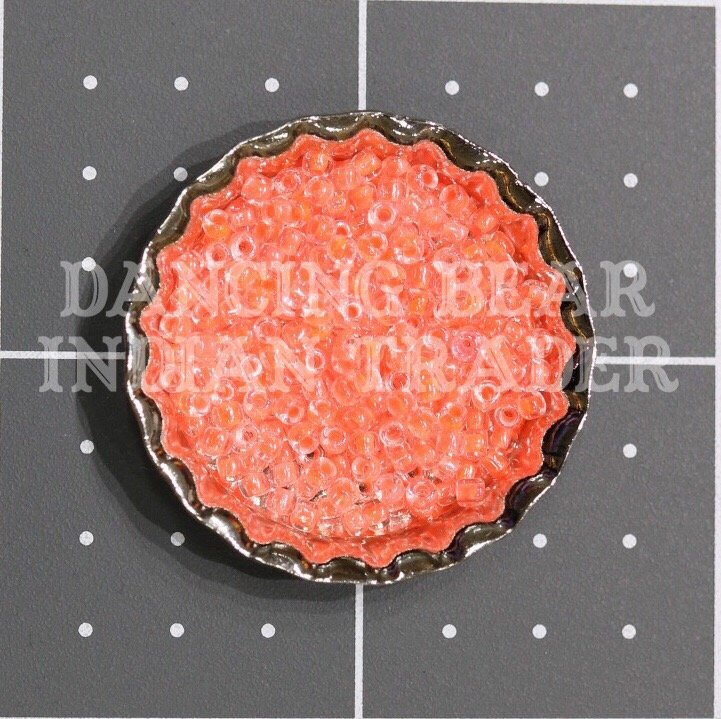 110-206 Crystal Neon Cantalope CL Japanese 11/0
