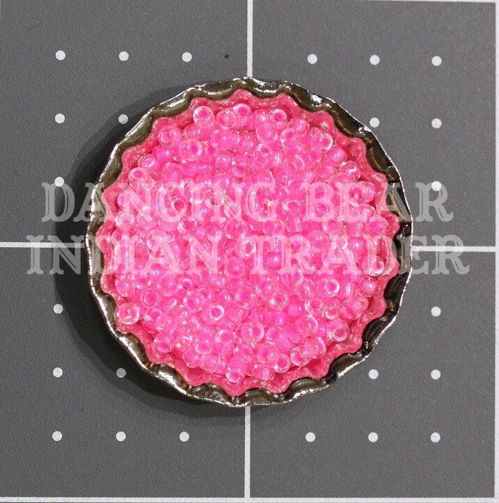 110-207A Crystal Neon Dk Pink CL Japanese 11/0