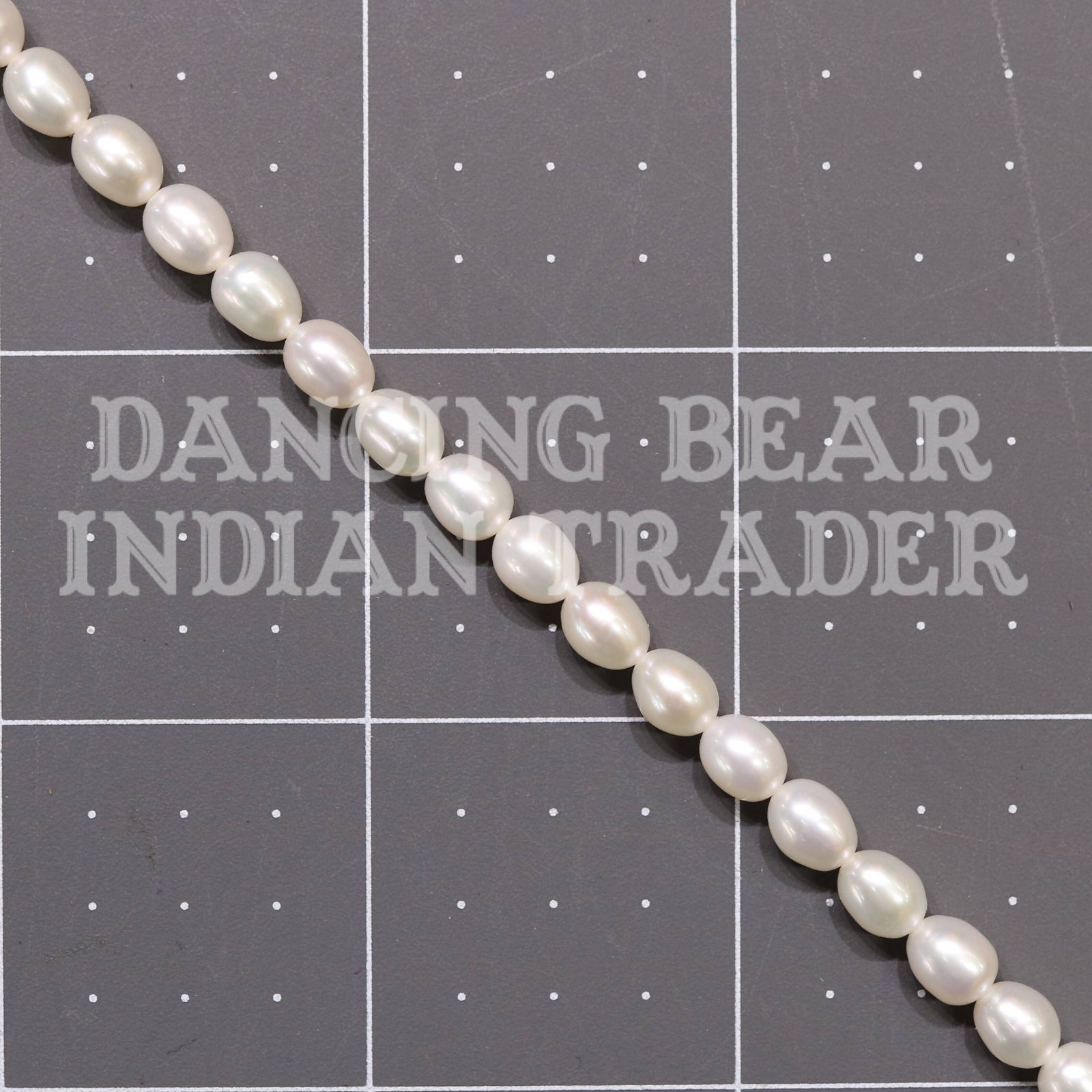 Cream Pearls Round Tablet Fresh Water Pearls