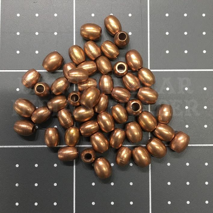 5mm Barrel Beads, Solid Copper 50pcs