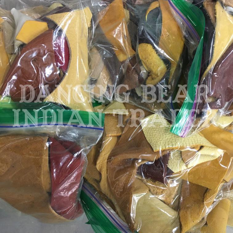 Buckskin Scrap Bag, Small to Medium Pieces