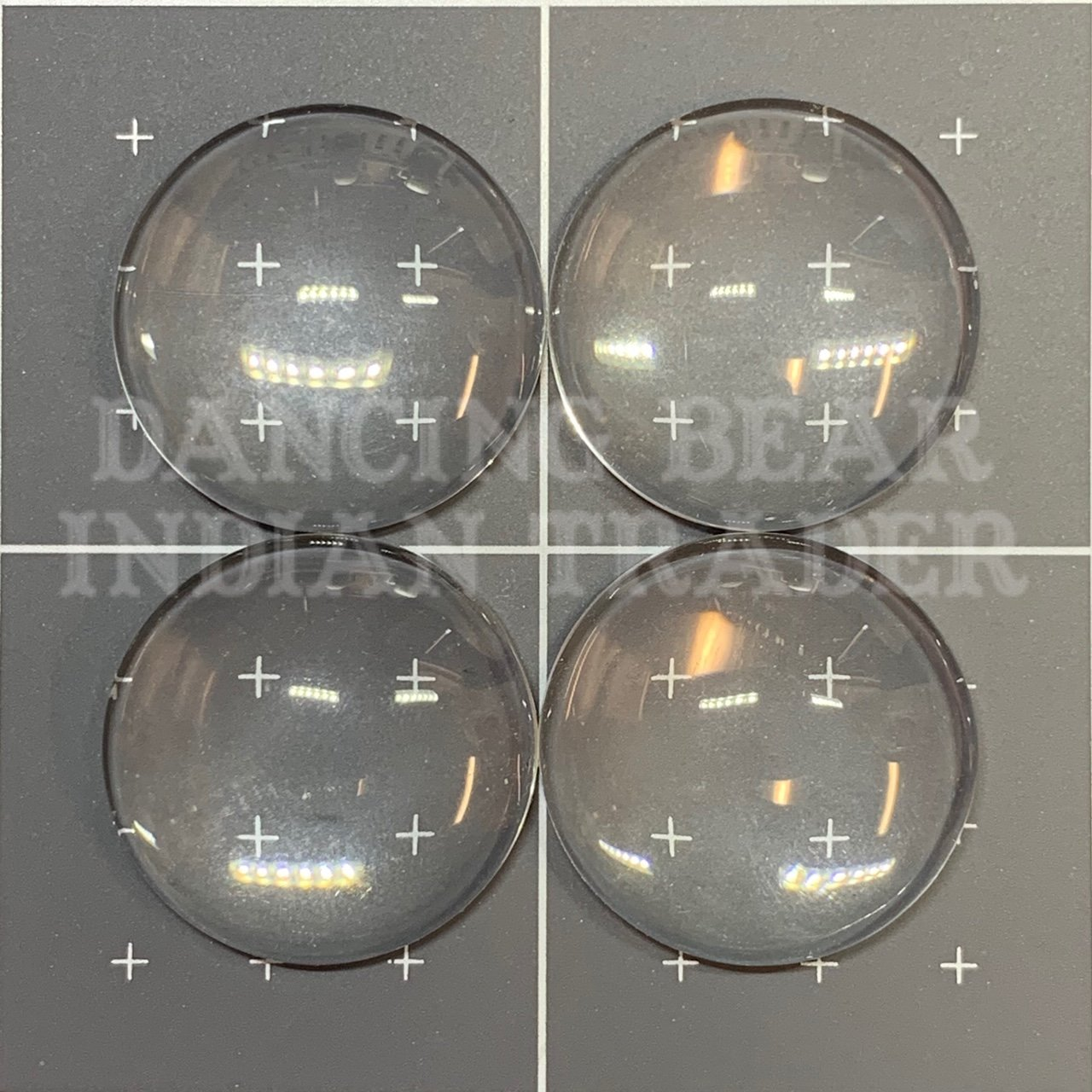 Glass Cabochons Round, Clear 20mm, 4pcs