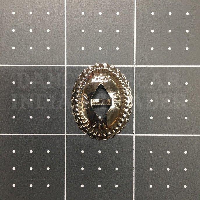 Concho Oval 1x 7/8 Nickel, 6pc
