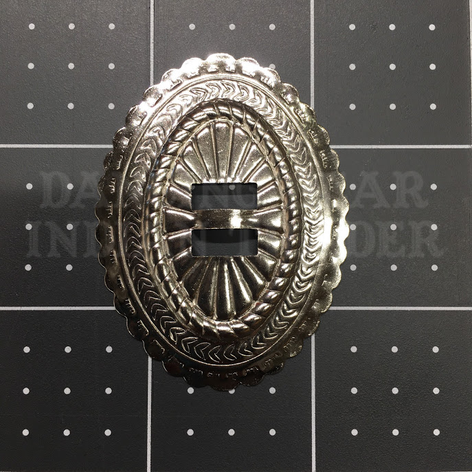 Concho Oval Sun 1.5x 2 Nickel, 6pc