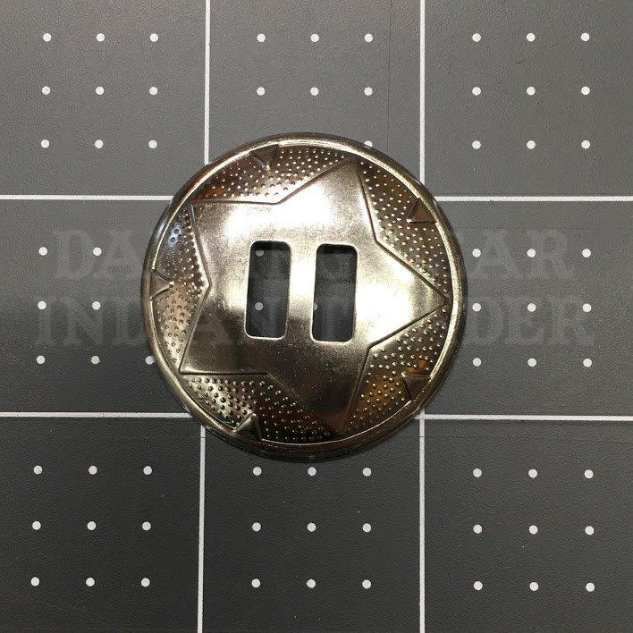 Concho Round Star 1.5 Nickel, 6pc