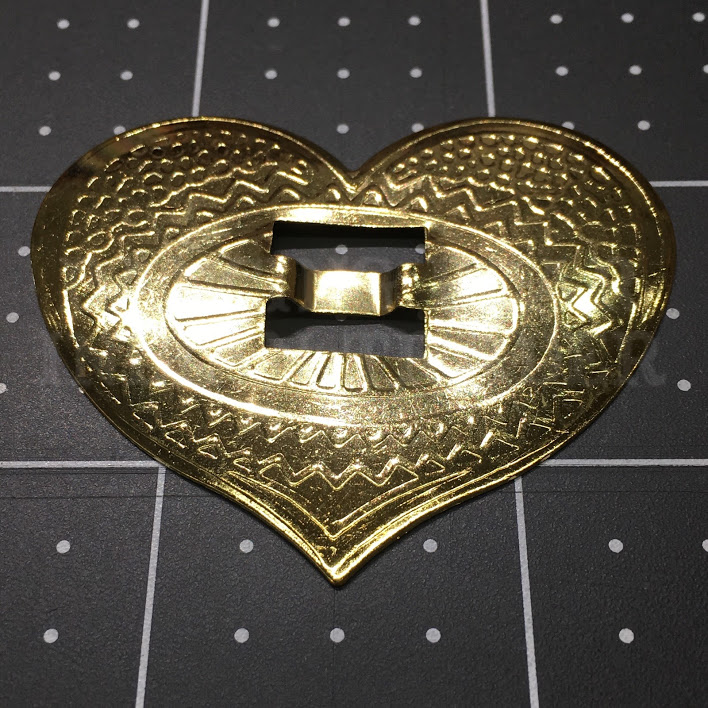 Concho Large Heart Brass, 4pc