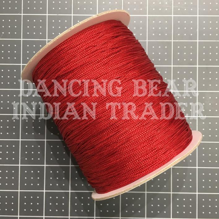 Chainette Shawl Fringe Dk Red-082