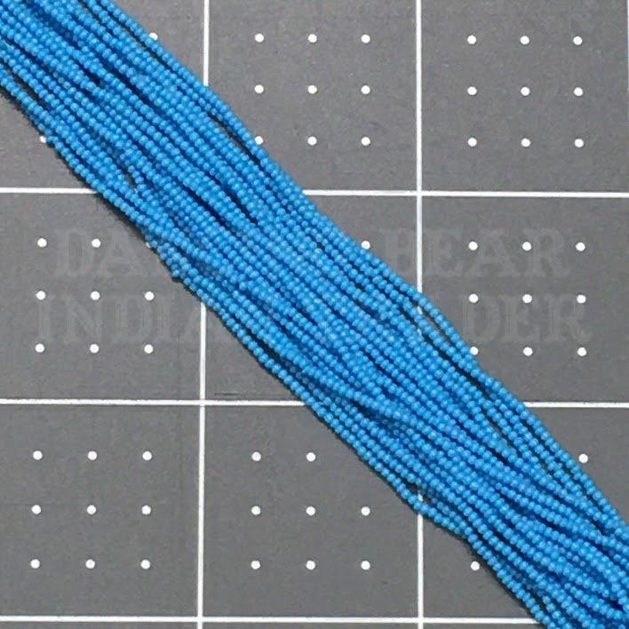 15/0-245OP Dark Turquoise Blue Opaque