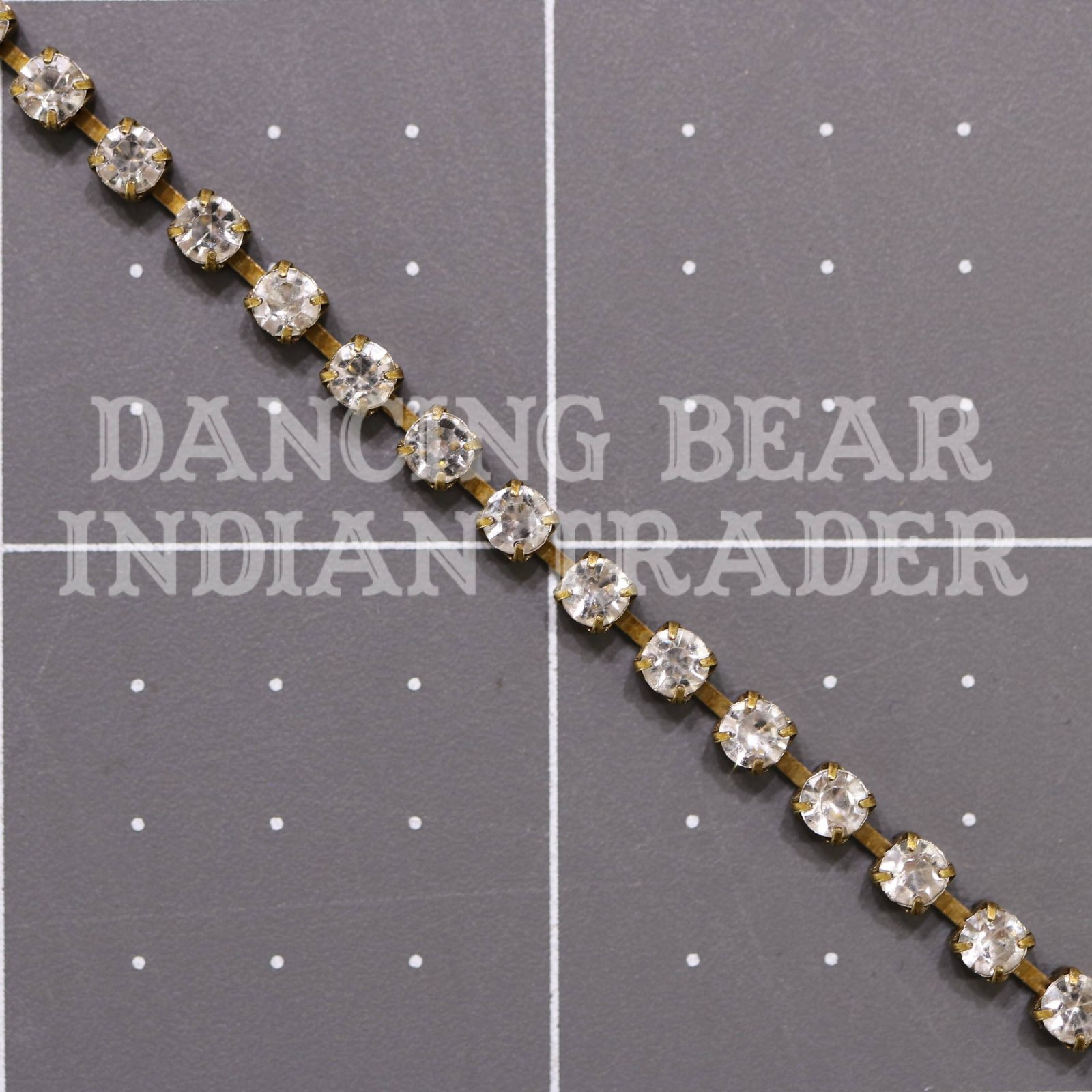 3mm Crystal Antique Brass Cup Chain per foot