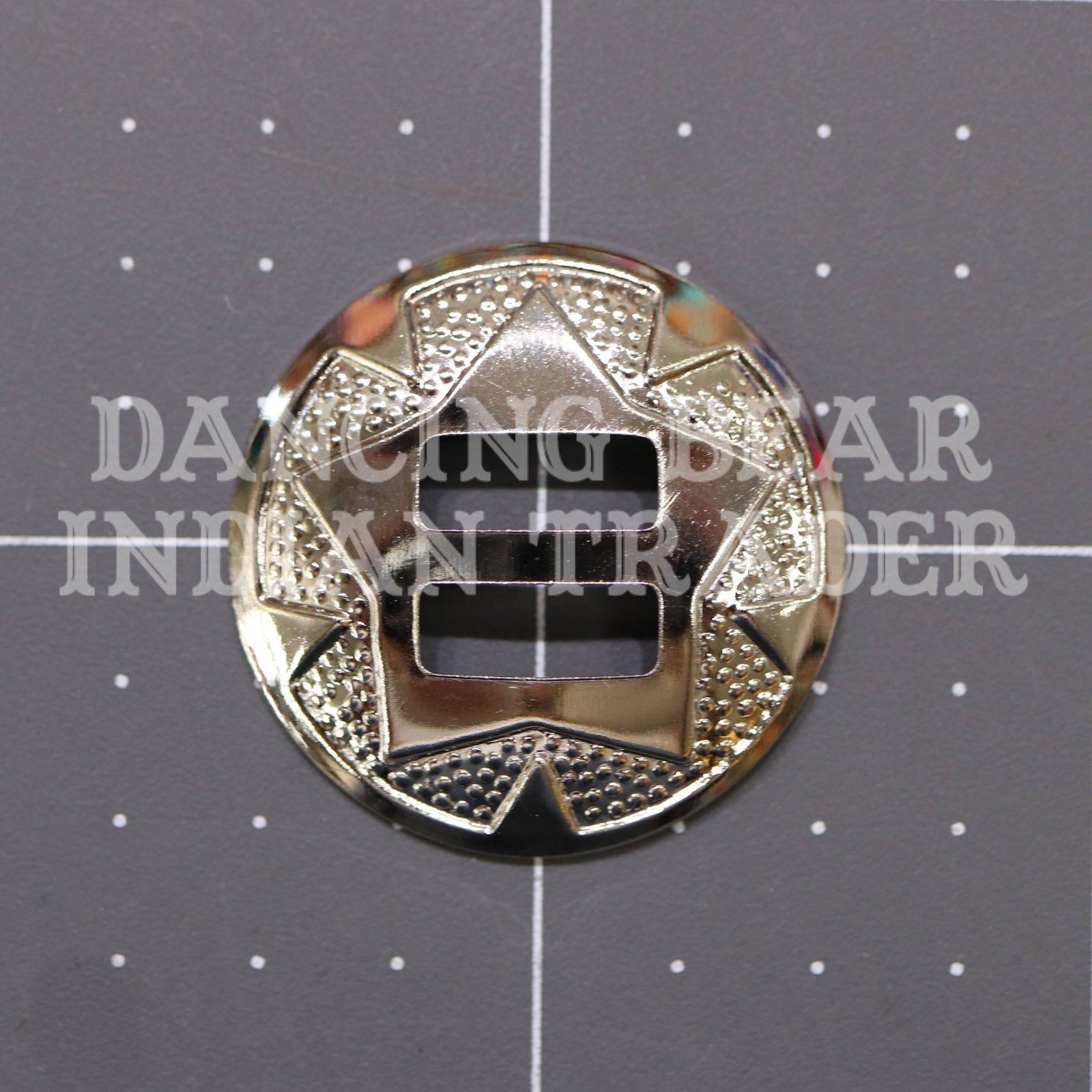 Concho Round Star 1.125 Nickel, 6pc
