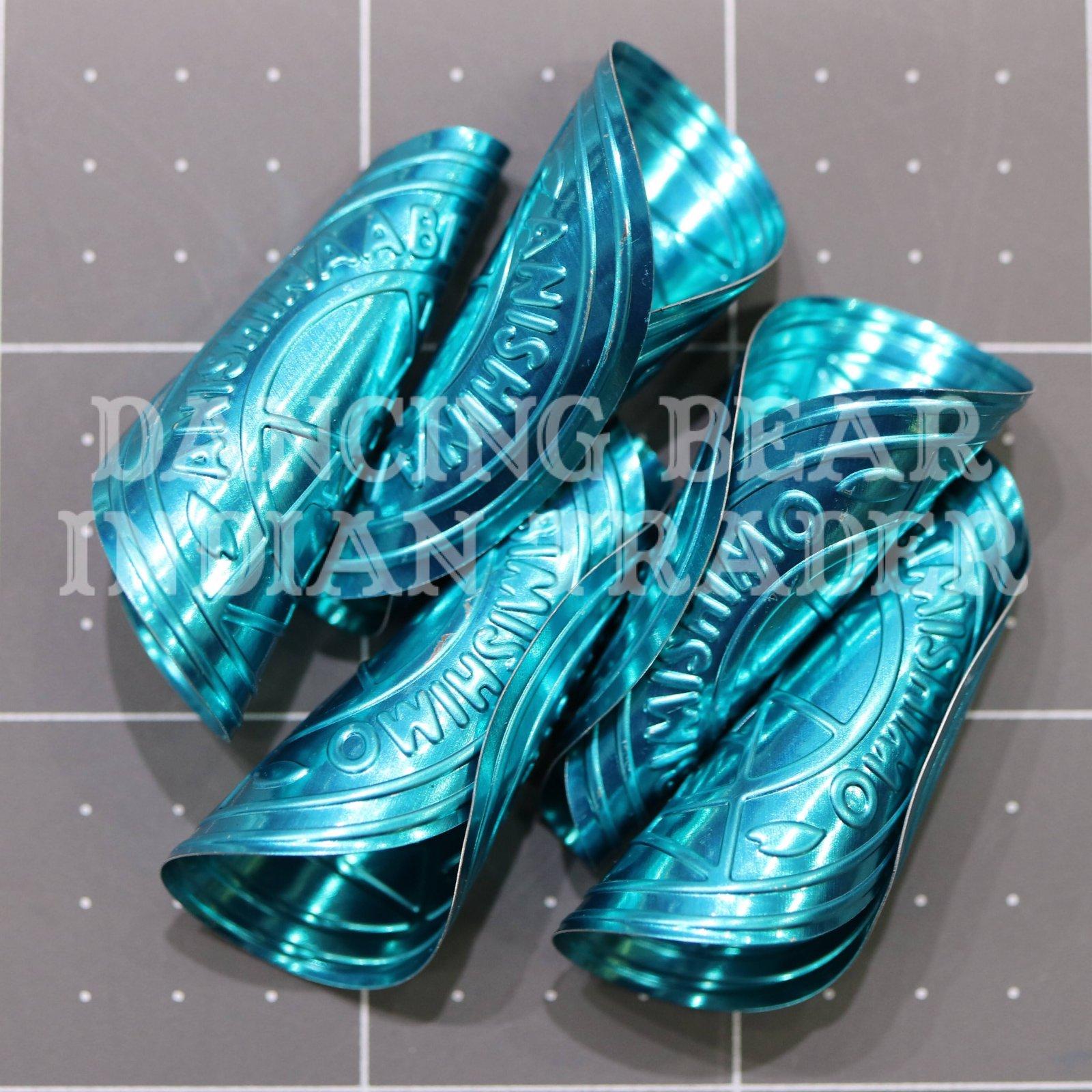 Anishinaabe Bimishimo Child Jingles 100 pc Turquoise