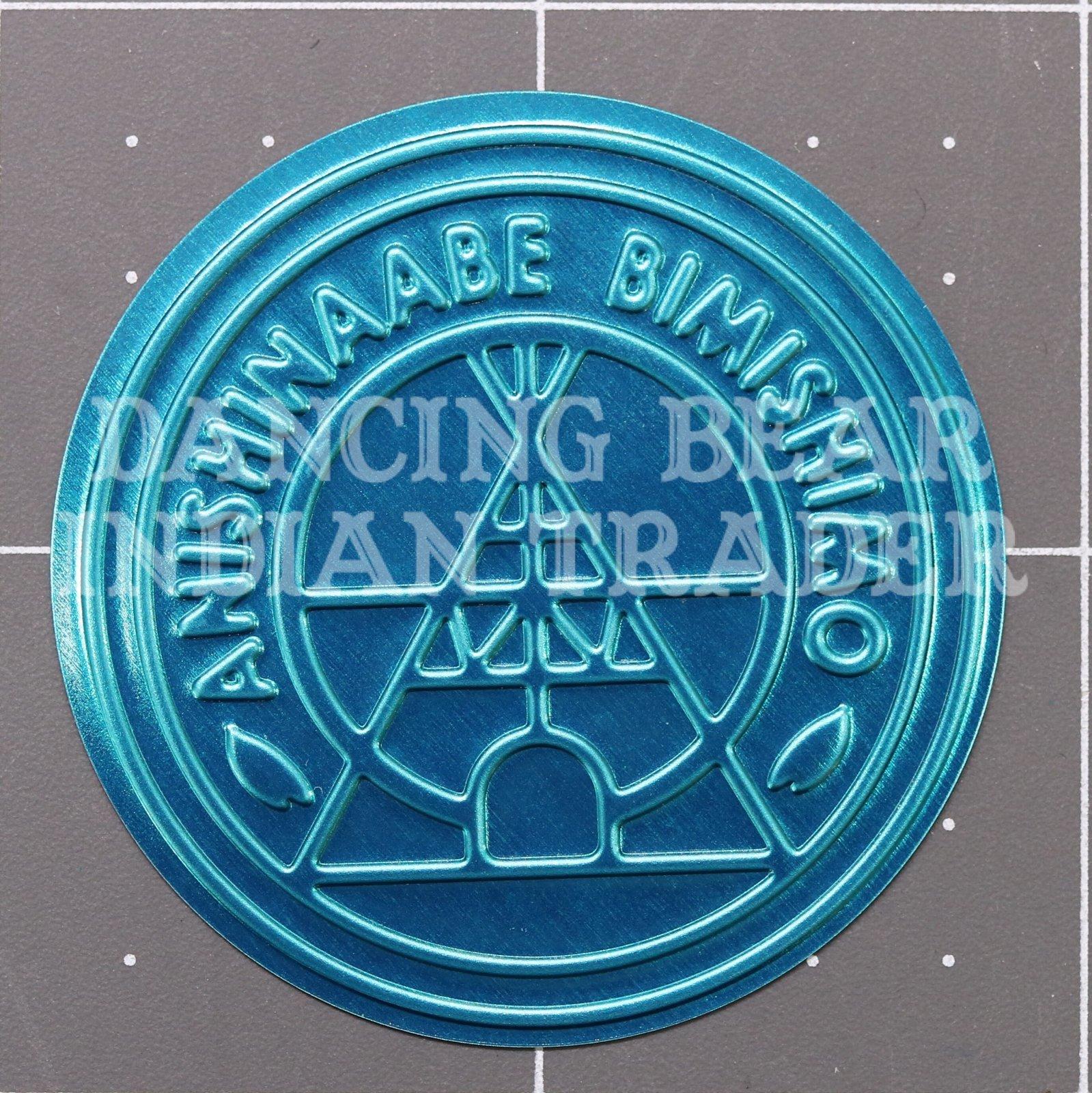 Anishinaabe Bimishimo Child Jingles 100 pc Flat Turquoise