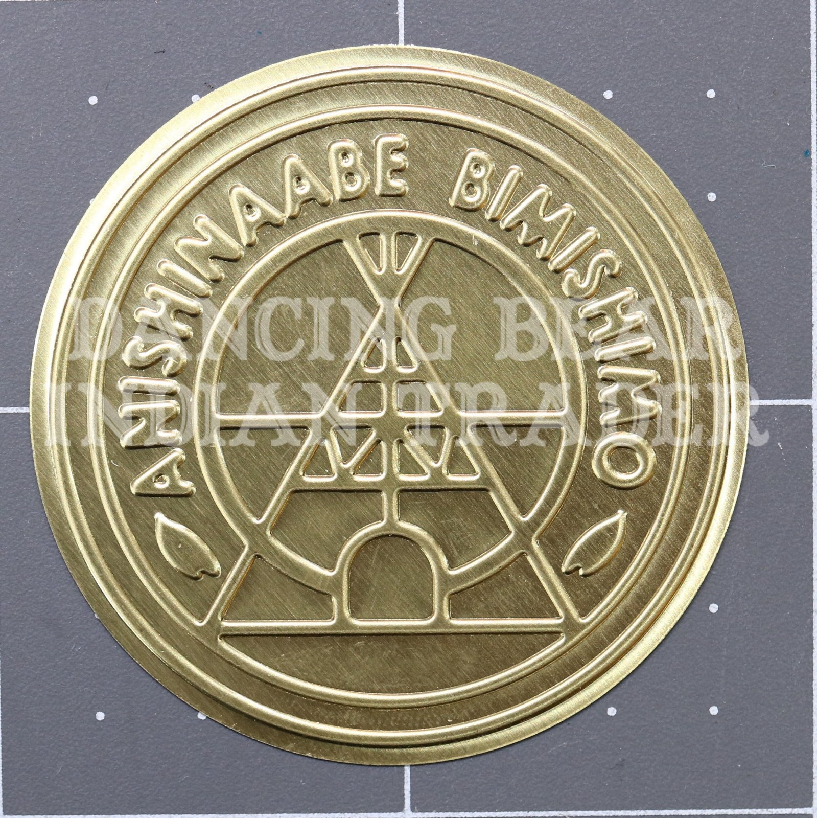 Anishinaabe Bimishimo Child Jingles 10 pc Flat Gold Brass