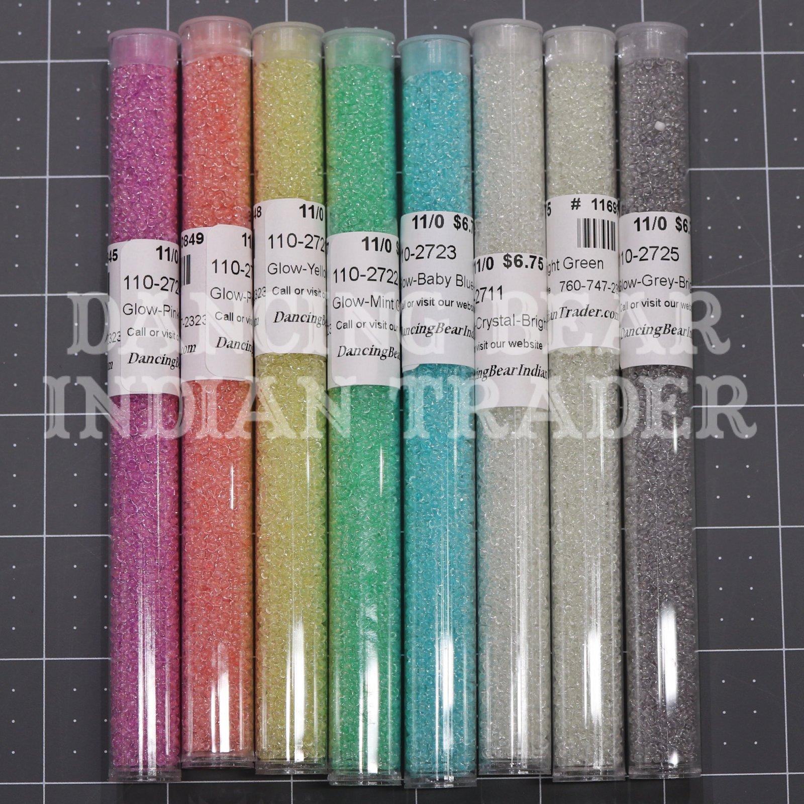 11/0 Glow In The Dark Bead Set Japanese 8 Colors