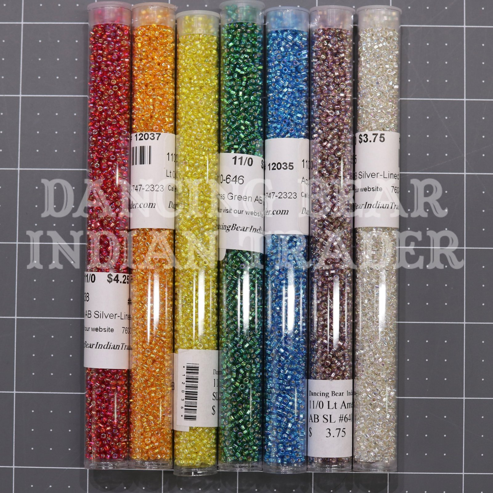 11/0 Silver Lined AB Bead Set Japanese 7 colors