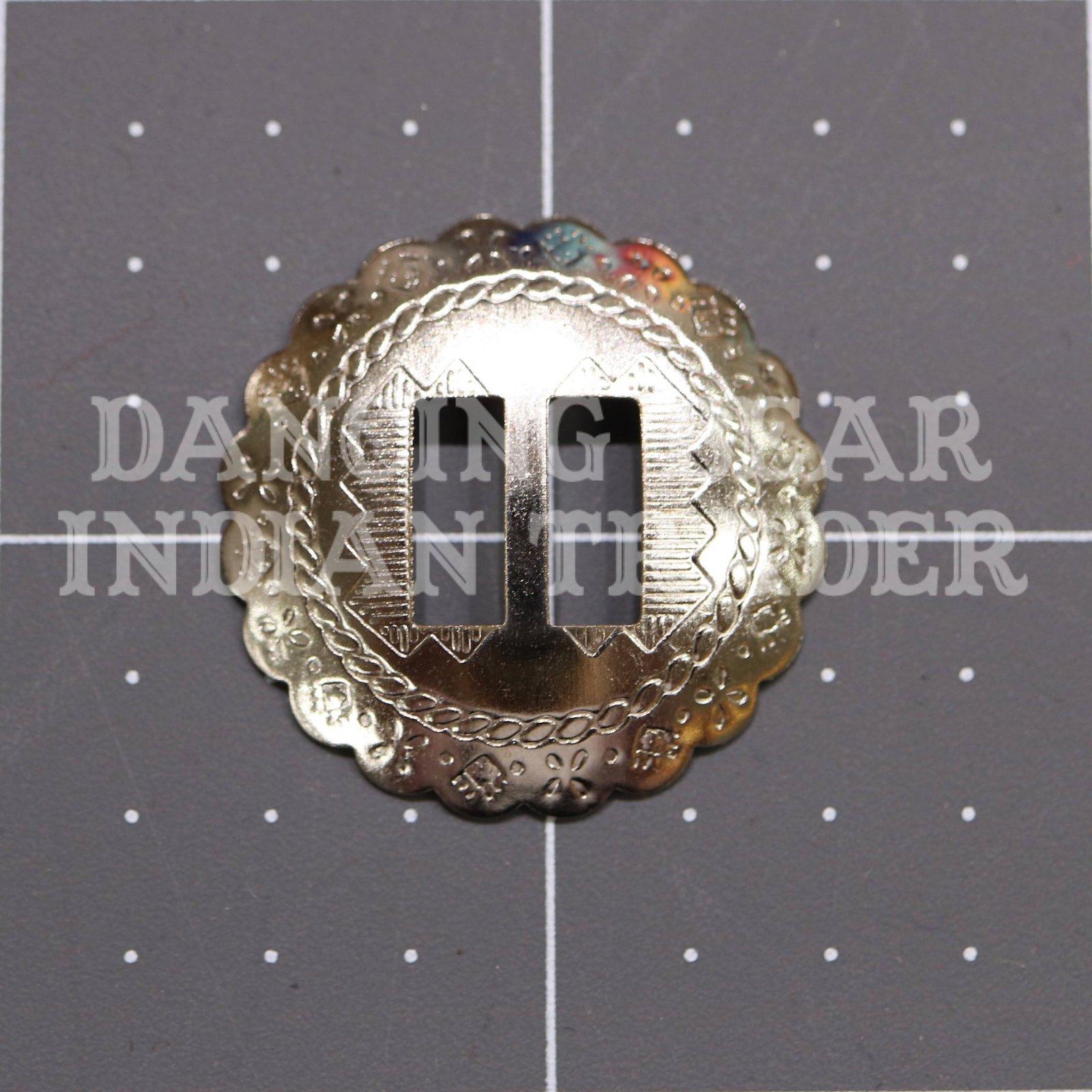 Concho Round Scallop 1.125 Nickel, 6pc
