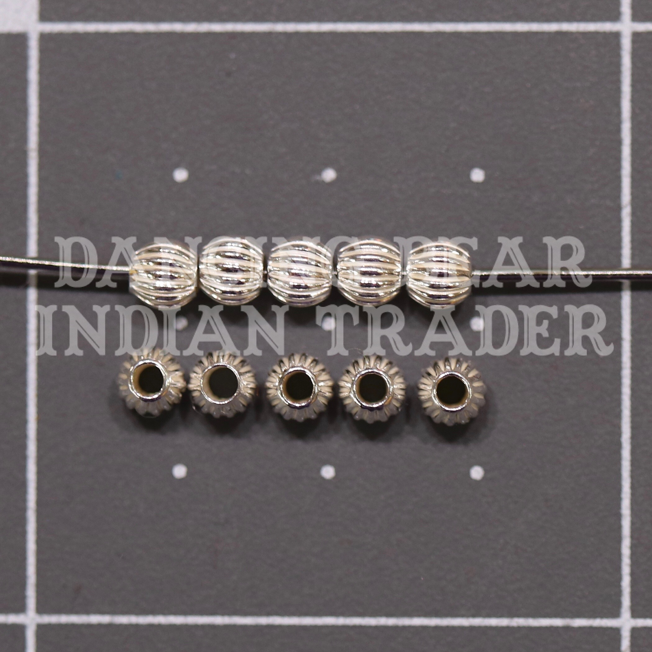 Sterling Silver Beads 3mm Corrugated 10pcs