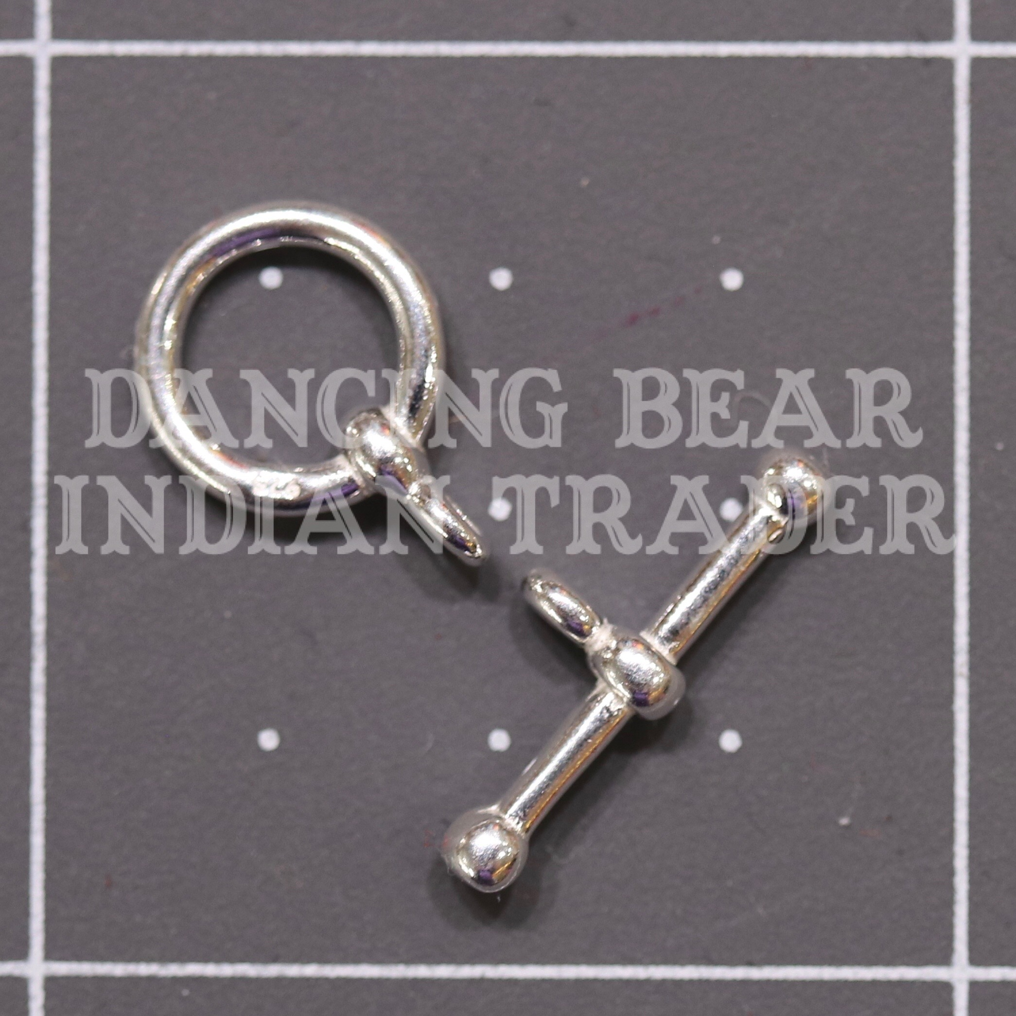 Sterling Silver Toggle Clasp 9mm 1 set