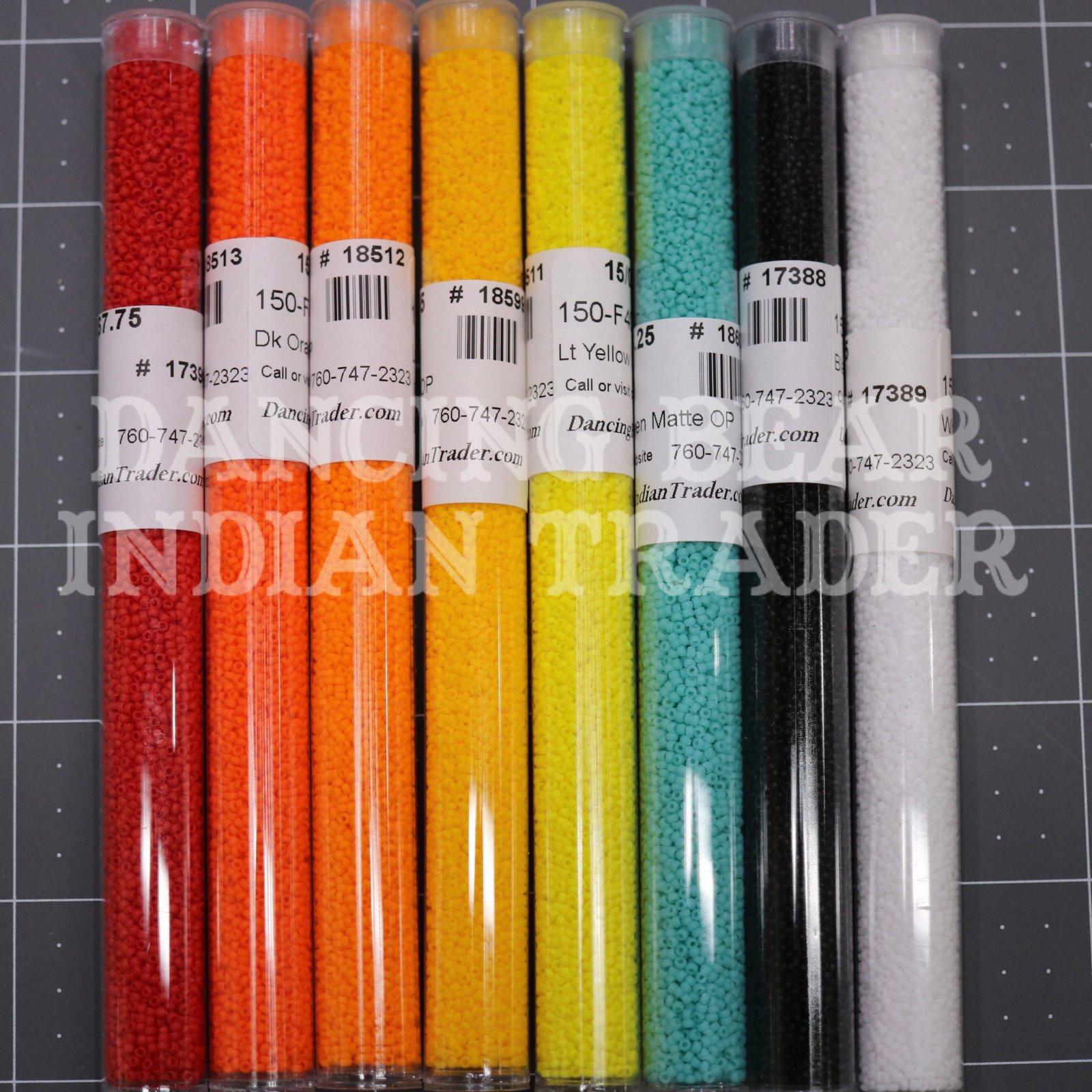 15/0 Matte Opaque Japanese Bead 8 Color Set