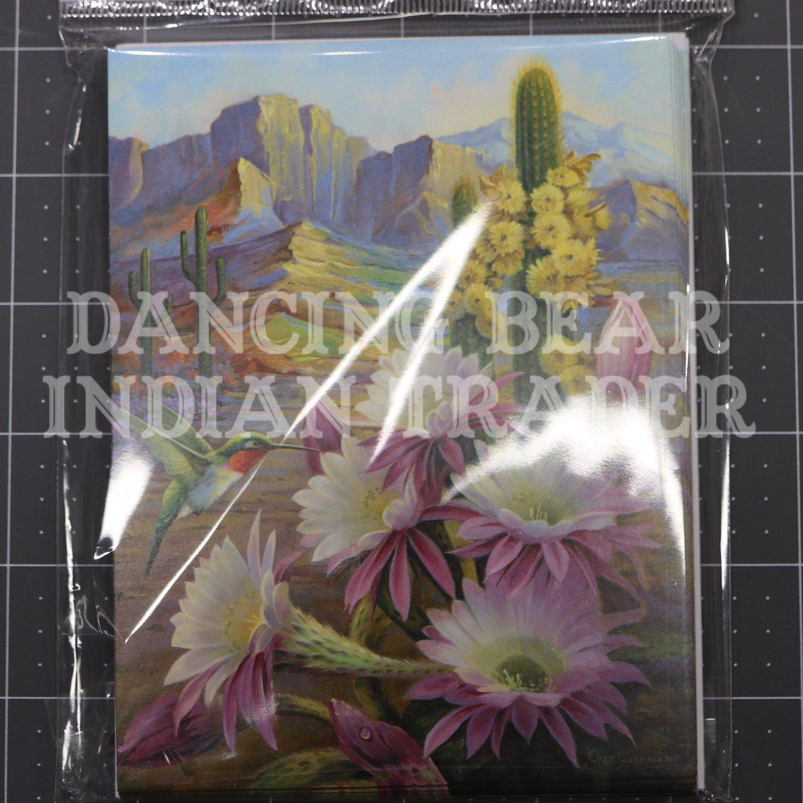 Desert Hummingbird Note Cards 8 pack