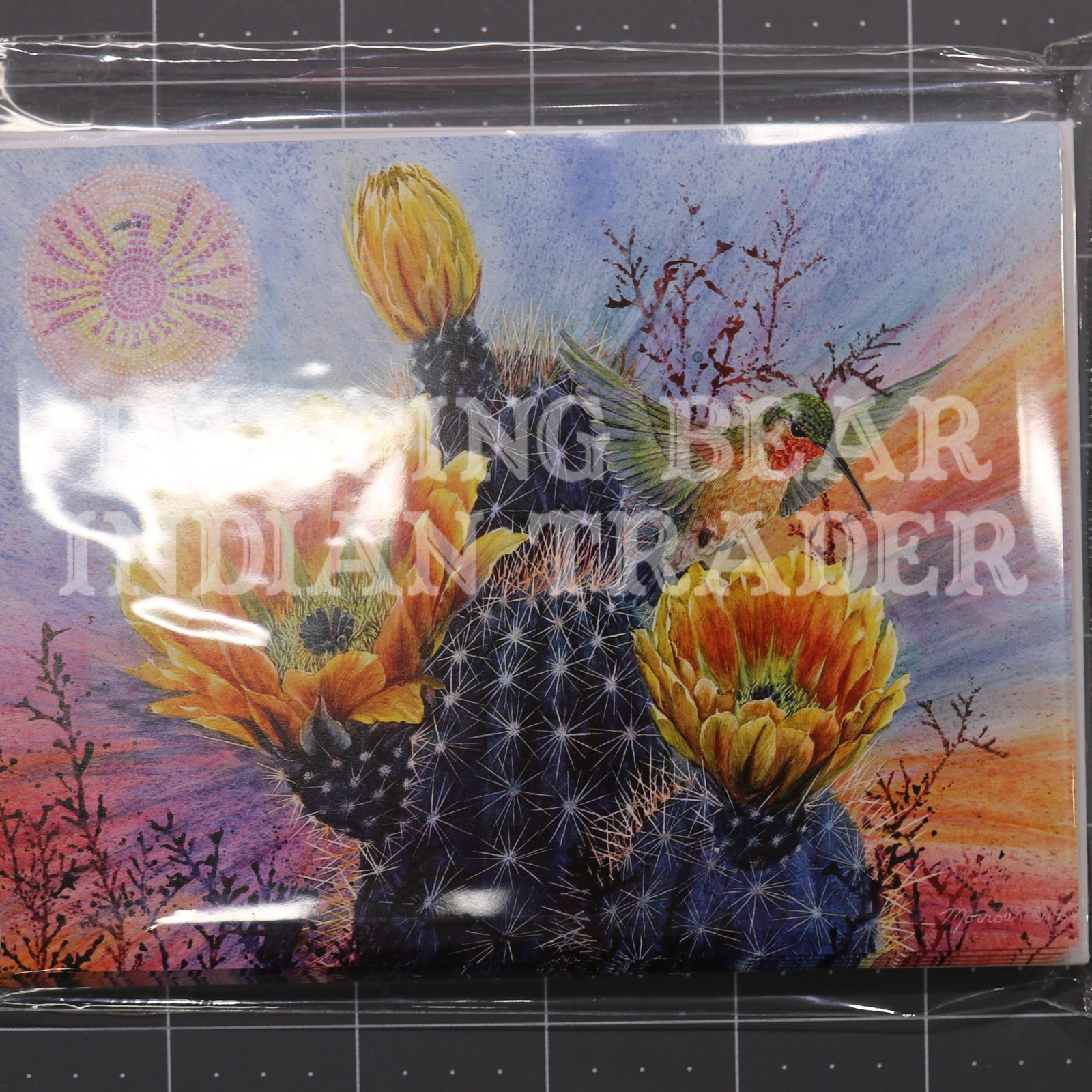 Cactus Hummingbird Note Cards 8 pack