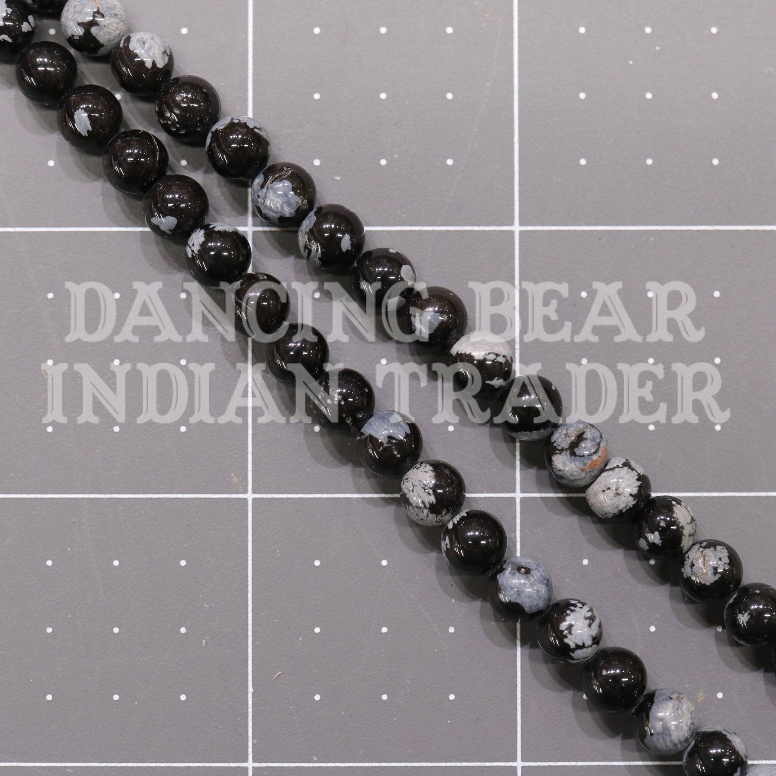 6mm Snowlfake Obsidian
