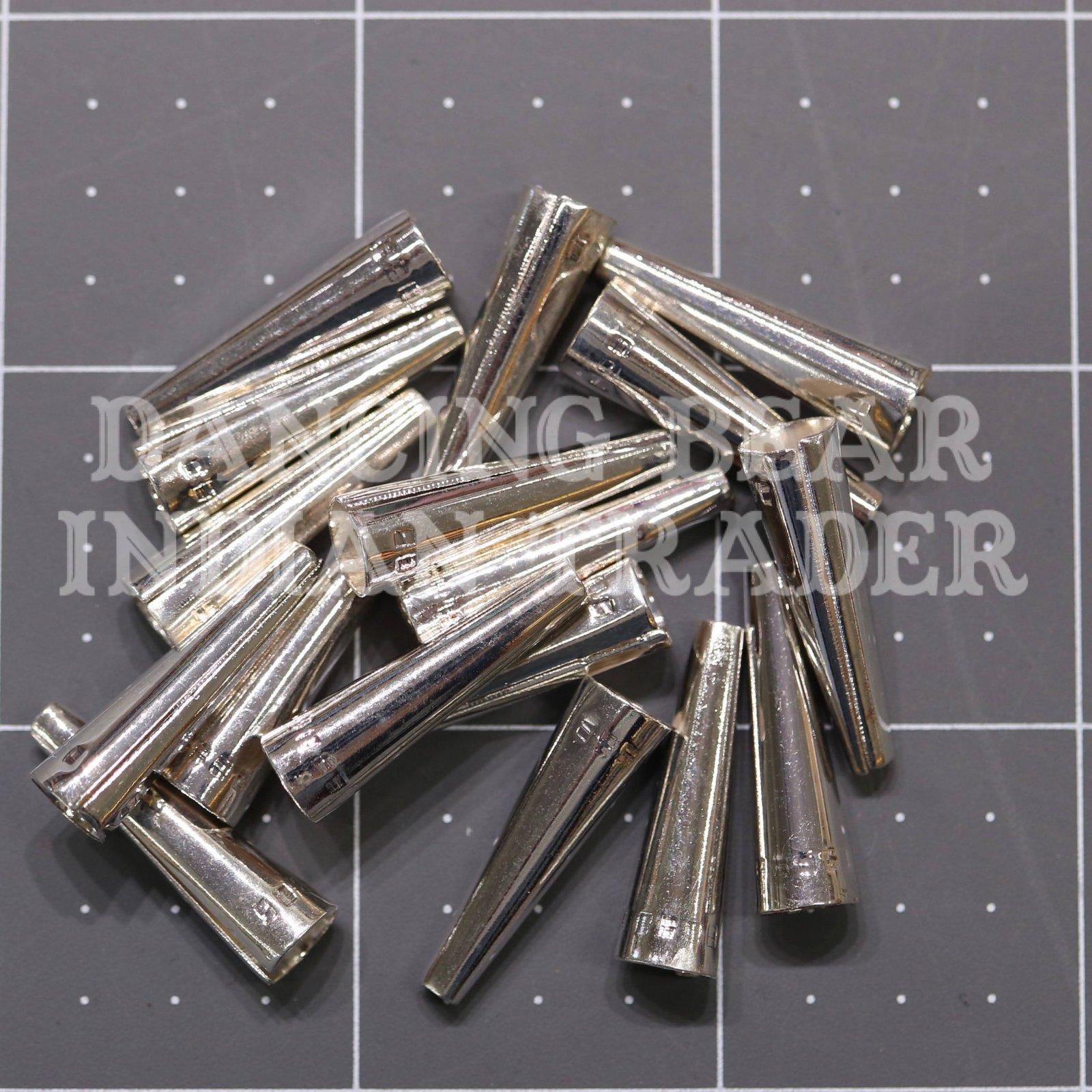 1 Silver-Plated Cones 100pcs Bulk
