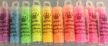 11/0 Neon Set Delica 10 Colors