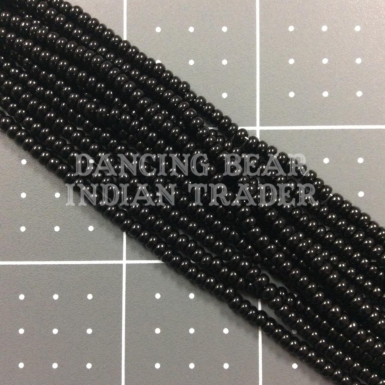 8/0-001OP Opaque Black 1/2 Hk