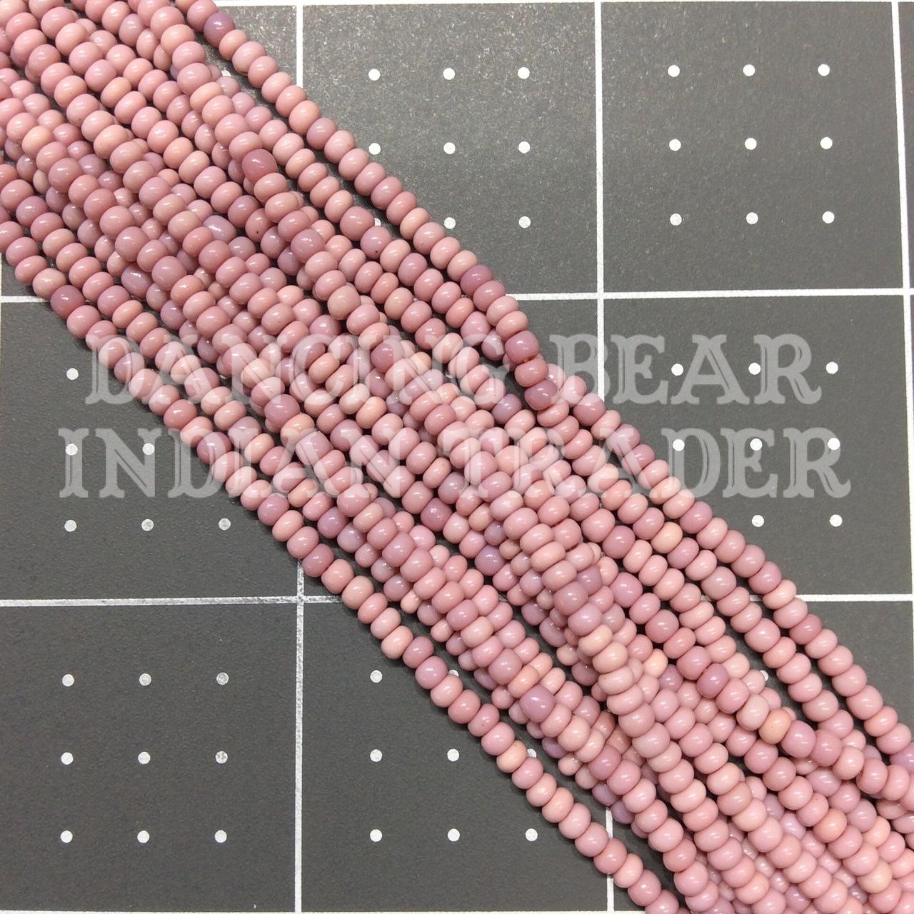 8/0-057MX Opaque Dusty Cheyenne Pink Mix 1/2 Hk