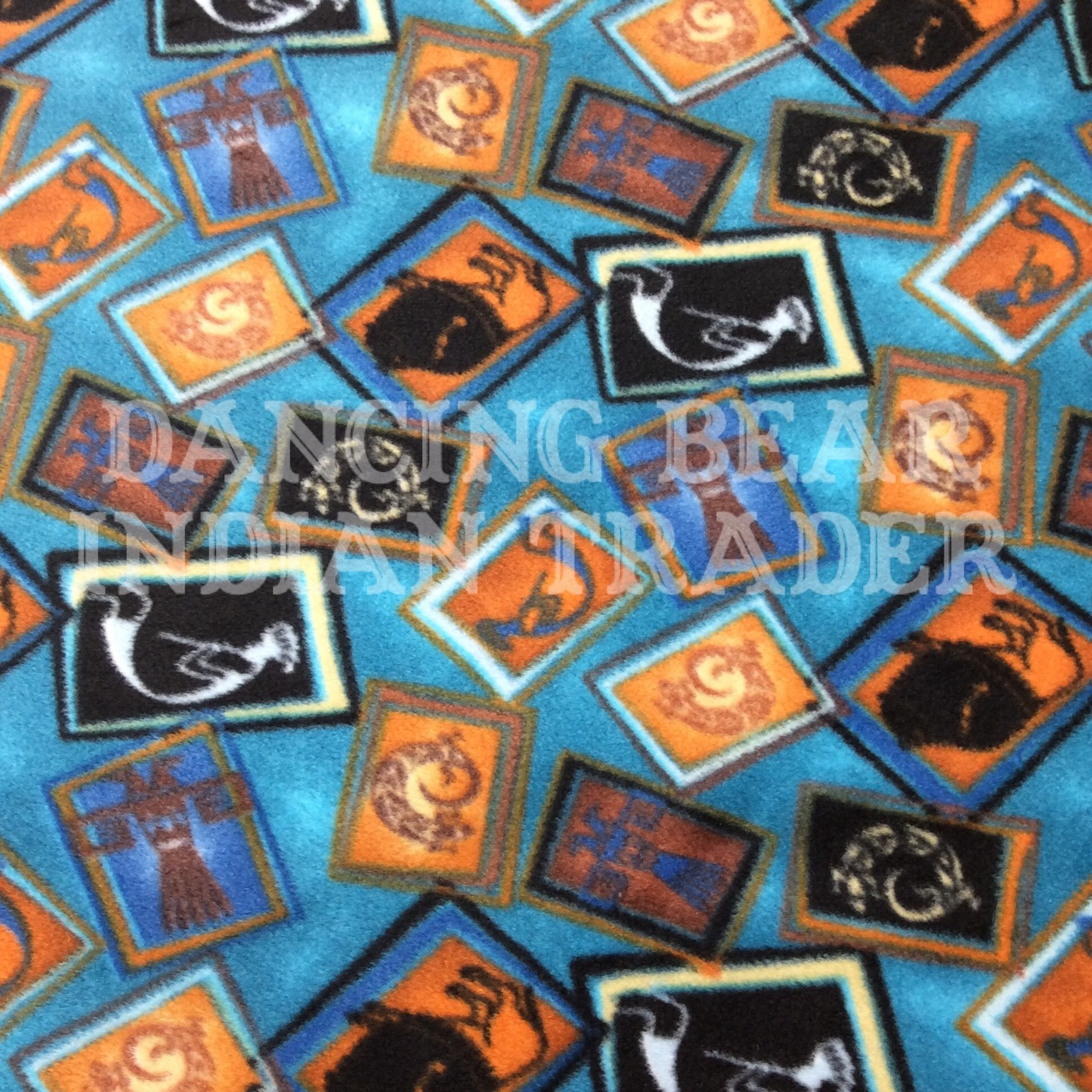 Baby Blanket Turquoise Tossed Native Images
