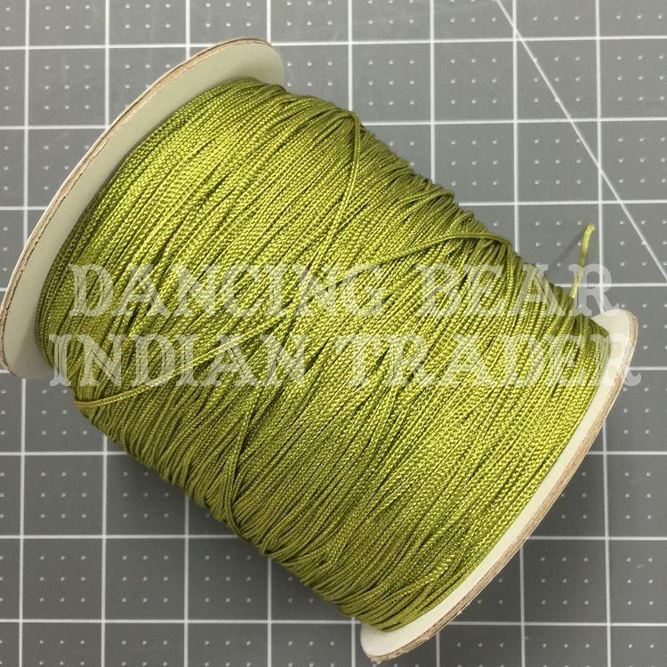 Chainette Shawl Fringe Olive Green