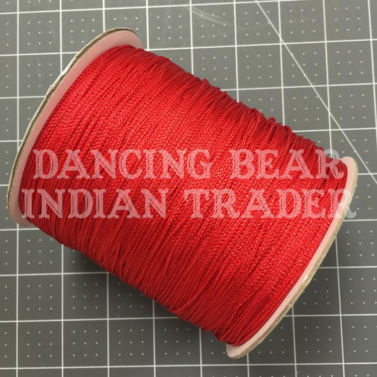 Chainette Shawl Fringe Red
