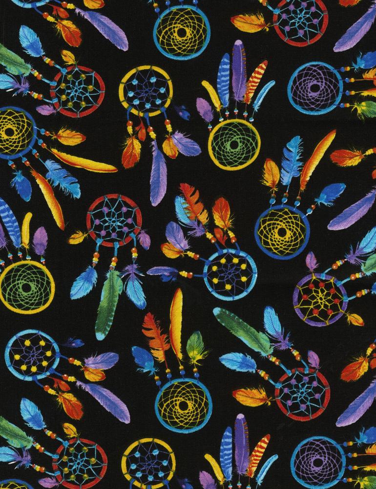 Colorful Dreamcatchers Brite/Black