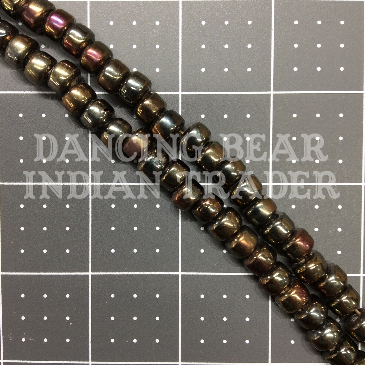 Crow Beads Brown Iris