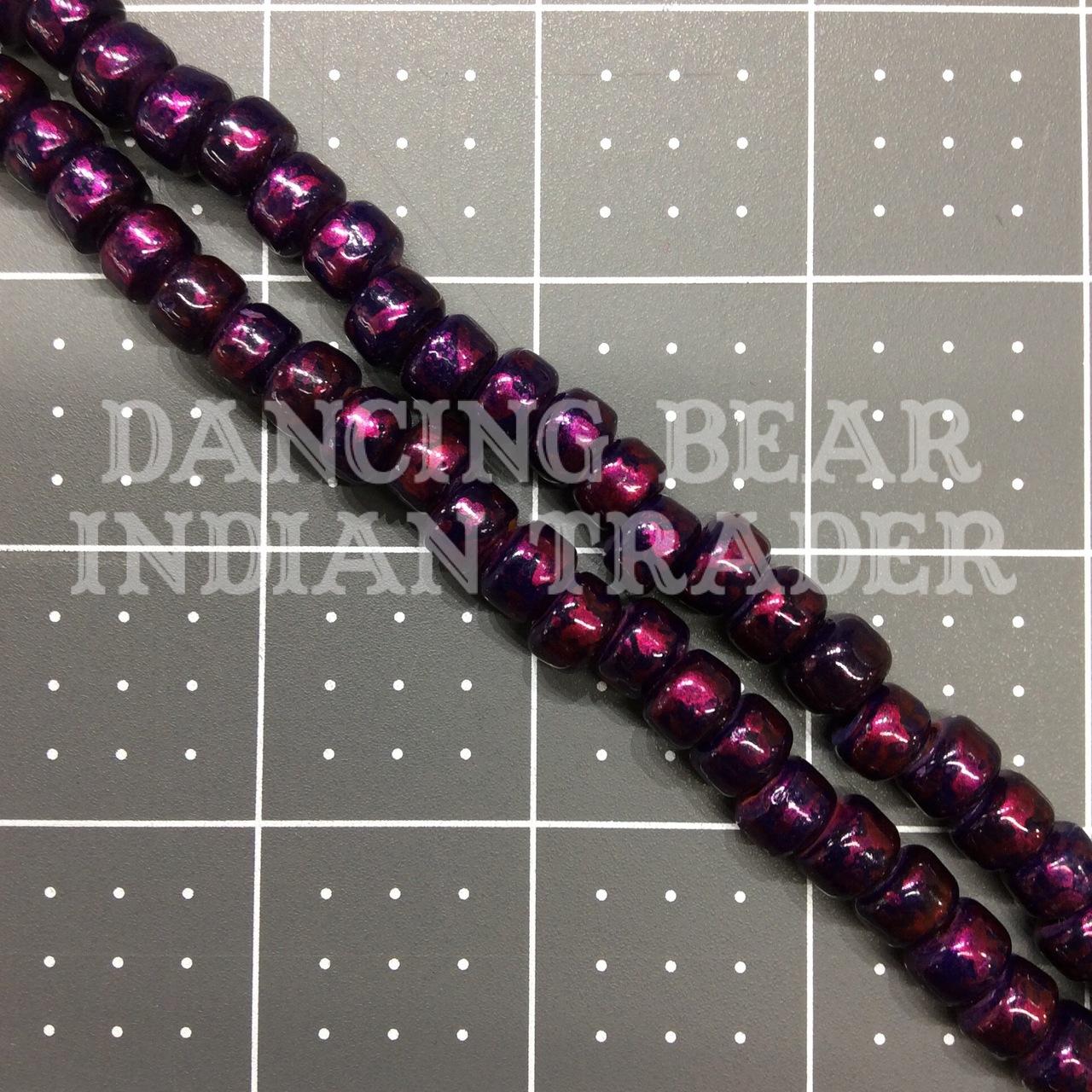Crow Beads Purple Glow