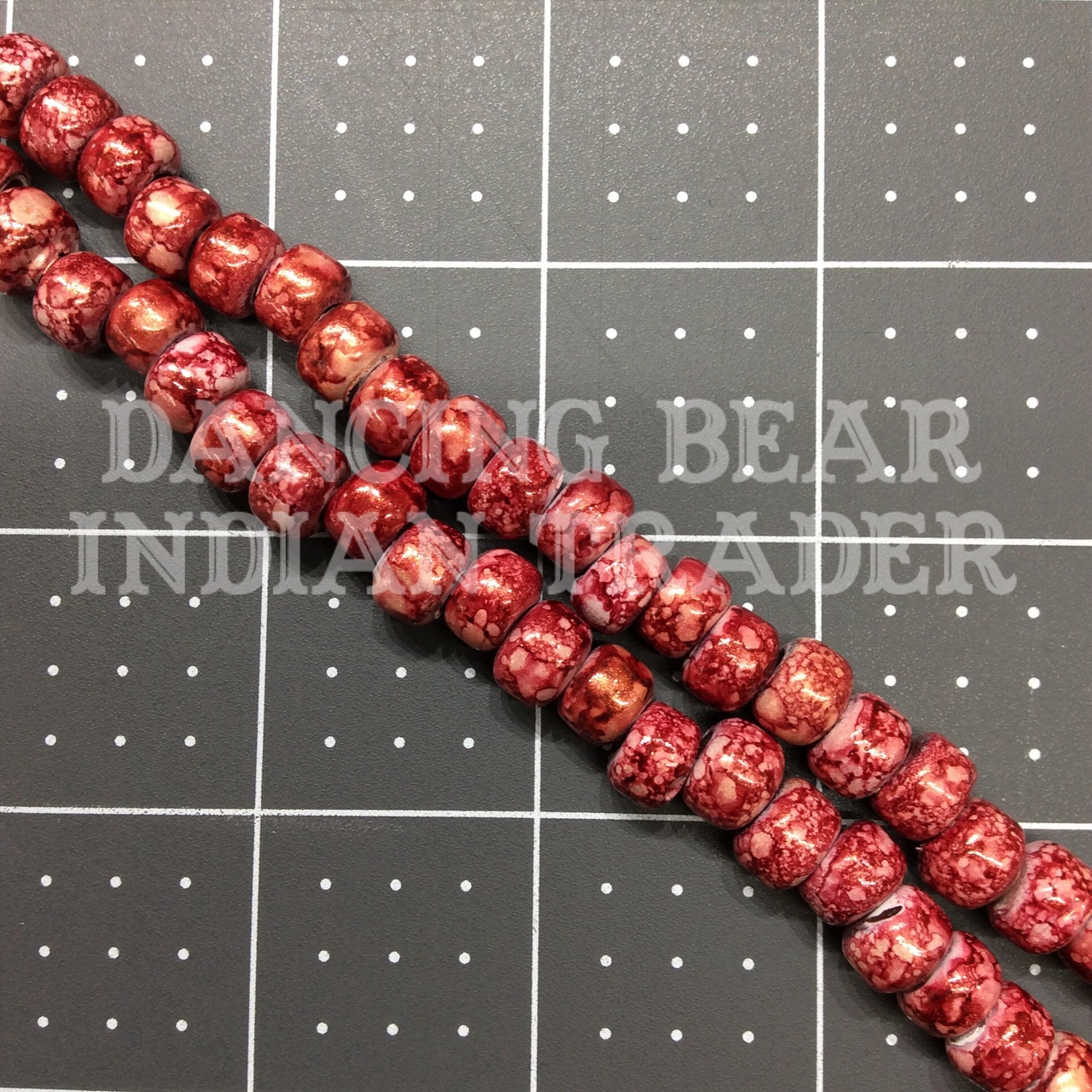 Crow Beads Tie Dye Red