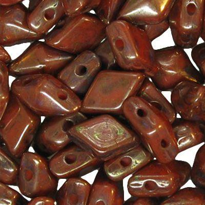 Diamonduo 2 hole Coral Bronze