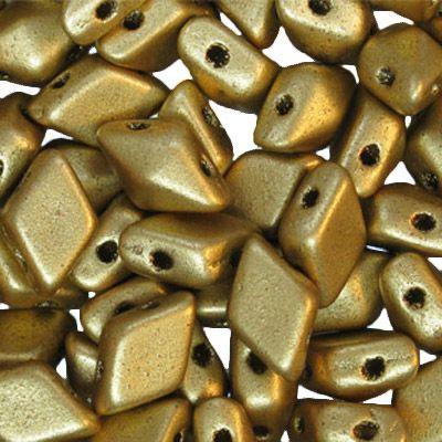 Diamonduo 2 hole Matte Gold