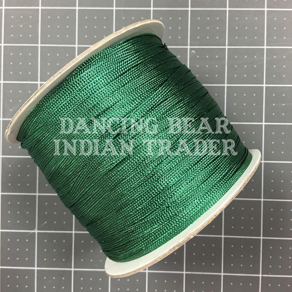Flat Shawl Fringe Emerald