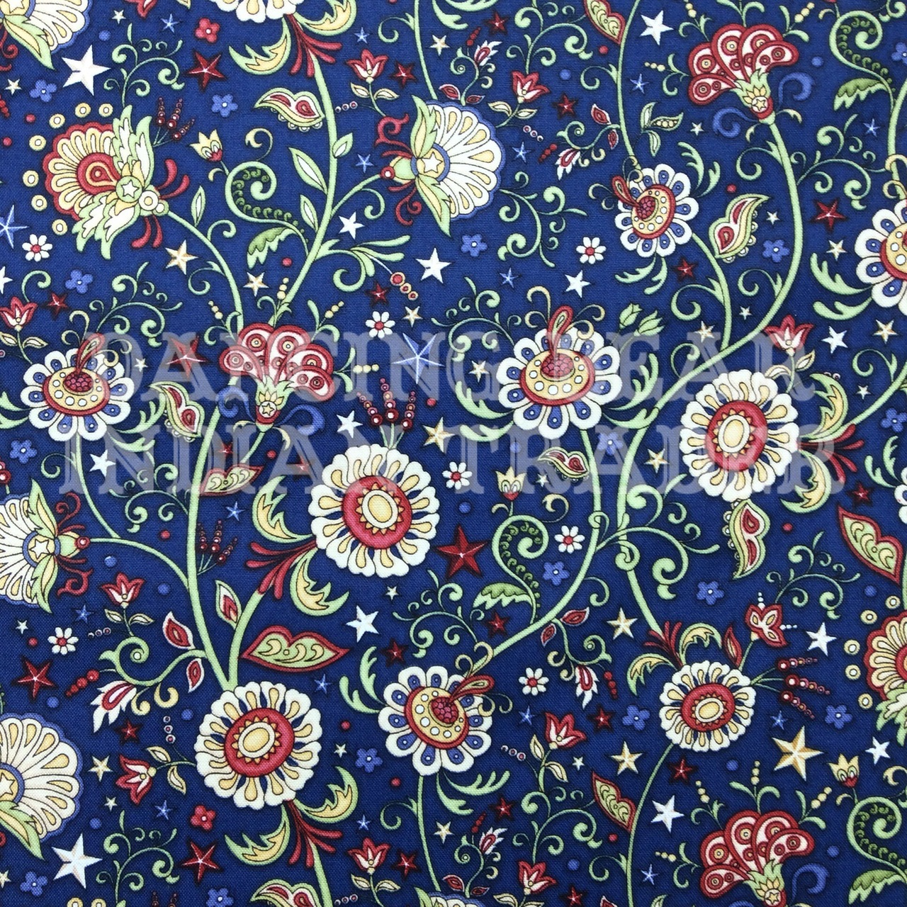 For Love of Country Paisley Navy