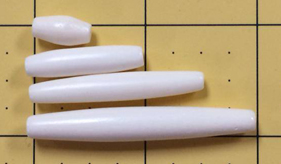 Hairpipe India Bone 4 12 pcs