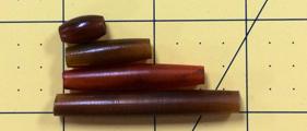 Hairpipe Horn Amber 1 1 dozen