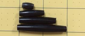 Hairpipe Horn Black .5 pc dz