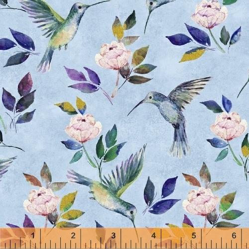 Hummingbird Romance Baby blue