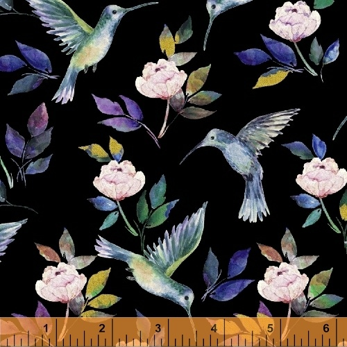 Hummingbird Romance Black