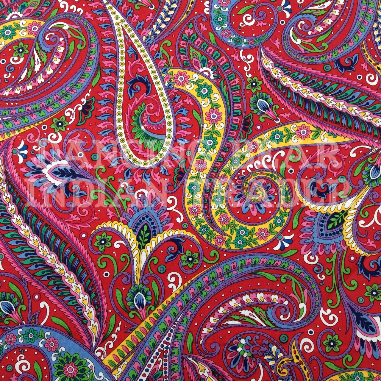 Imperial Paisley Red