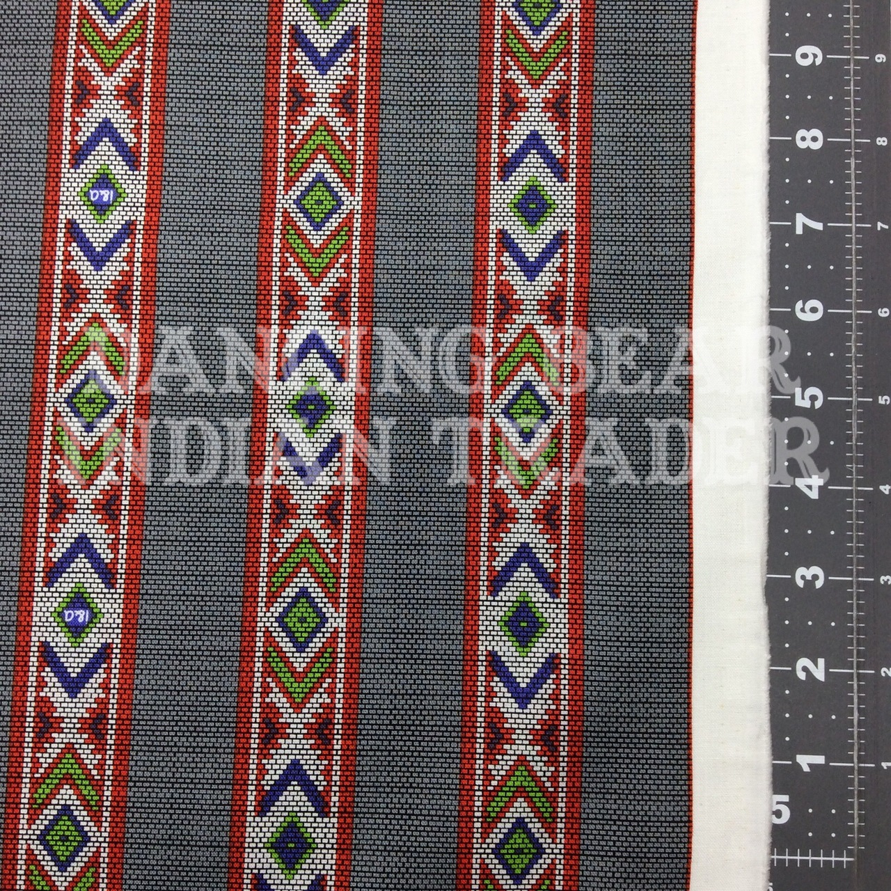 Indian Paintbrush Beaded Strips Grey