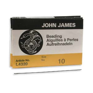 Beading #10 Needle 25pk, John James